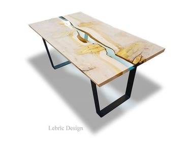 Wooden contract table DANUBIO IN CEDRO | Resin table