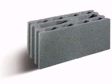 Lightweight concrete block for fire resistance LECABLOCCO TAGLIAFUOCO