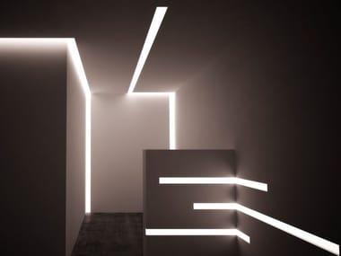 Profilo LED piano a 2 a luce indiretta LED 001