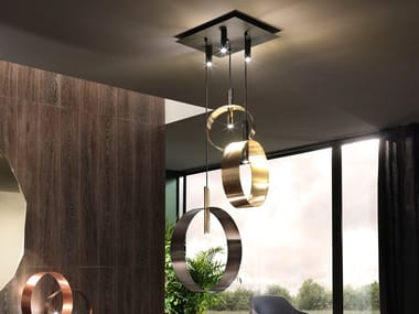 LED direct-indirect light metal pendant lamp LED LOOP S