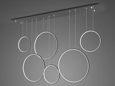 LED aluminium pendant lamp LED RINGS NO.8