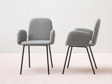 Cadeira estofada com braços LEDA | Cadeira com braços