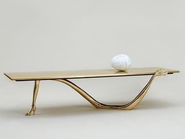 Low brass coffee table LEDA   Coffee table