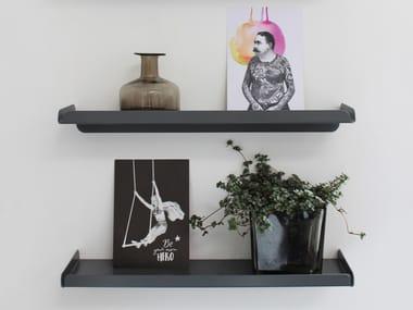 Powder coated steel wall shelf LEDGE