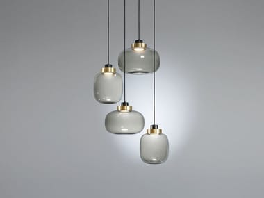 LED blown glass pendant lamp LEGIER | LED pendant lamp