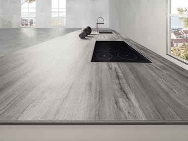 Ceramic kitchen worktop FURNISHING - LEGNO VENEZIA