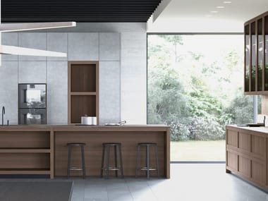 Fitted kitchen with island LEGNO VIVO 2.6 | Kitchen with island