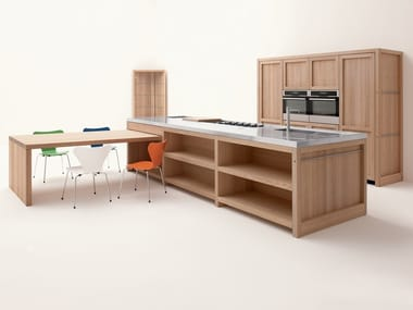 Oak kitchen with island LEGNO VIVO