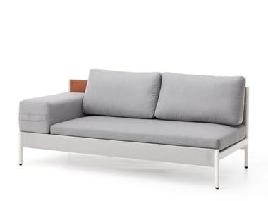 Modular garden sofa with removable cover LEGO | Garden sofa with removable cover