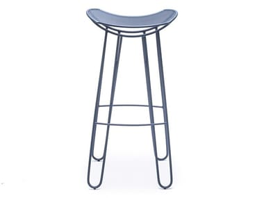 High metal stool with footrest LEI