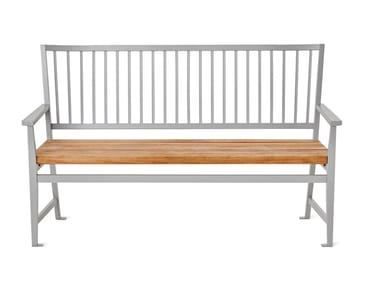 Die cast aluminium Bench with back LEKSAND
