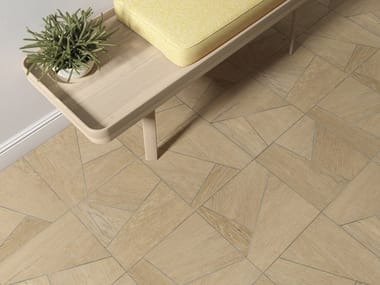Indoor/outdoor wall/floor tiles with wood effect LENK
