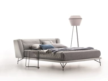 Leather double bed LENNOX   Upholstered bed