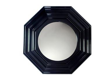 Wall-mounted framed mahogany mirror LENOX