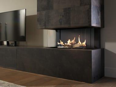 Gas built-in steel fireplace LEO LP 70