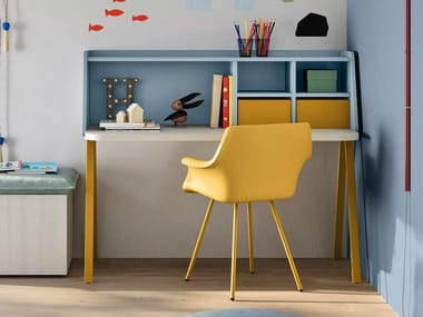Rectangular Kids writing desk with drawers LEO
