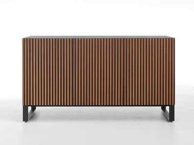 Wooden sideboard with doors LEON WOOD
