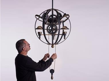Lampada a sospensione a LED a luce indiretta in ottone LEONARDO 1482