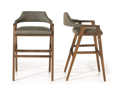 Stool with integrated cushion with back LEONARDO L32 | Stool