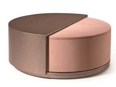 Storage round fabric pouf LEONARDO S98 | Pouf