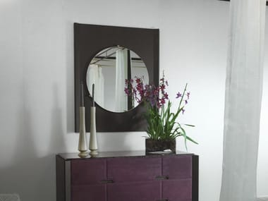 Framed wall-mounted wooden mirror LEPANTO | Mirror