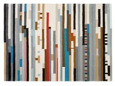 Rectangular wool rug with geometric shapes LEPARK