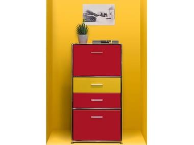 Modularer Bürokommode aus Holz LES COULEURS LE CORBUSIER   Modularer Bürokommode