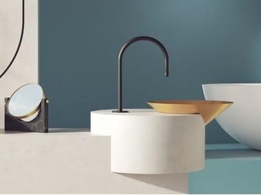 Semi-inset round washbasin LETO | Semi-inset washbasin