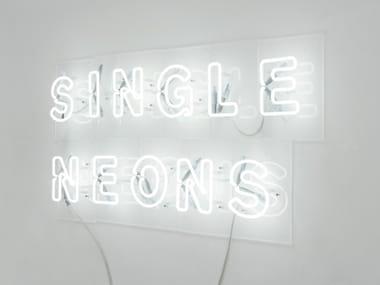 Lettere luminose al neon LETTER EDITION