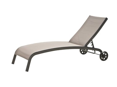 Folding Recliner metal garden daybed with Casters Eden