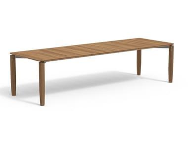 Rectangular teak garden table LEVANTE 030