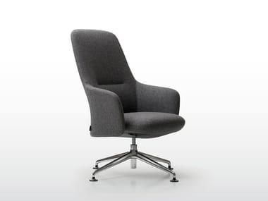 High-back armchair with 4-spoke base LEVEL | High-back armchair