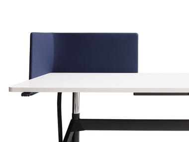 Sound absorbing fabric desktop partition LEVEL | Desktop partition
