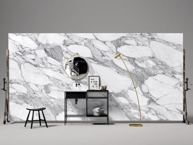 Porcelain stoneware wall tiles with marble effect LEVEL MARMI