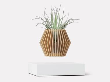 Levitating wood vase LOOMA HOVERBOX + POT – THREE