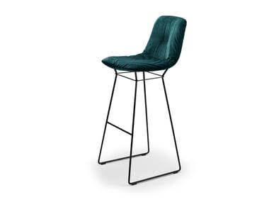 High fabric stool LEYA BARSTOOL HIGH