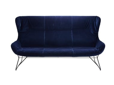 3 seater fabric sofa LEYA WINGBACK COUCH
