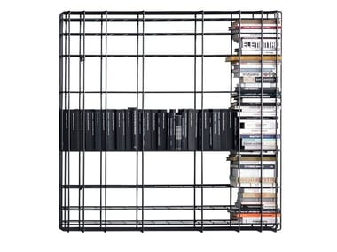 Open wall-mounted iron bookcase LEYVA | Wall-mounted bookcase