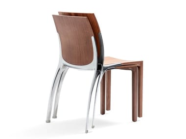 Stackable wooden chair LIANA WOOD