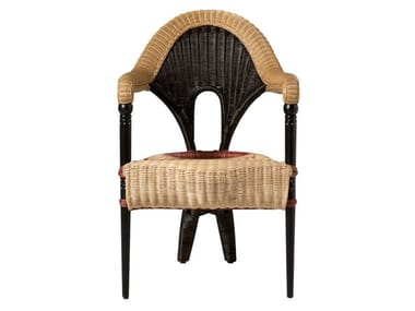 Rattan chair with armrests LIBA