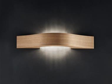 LED oak wall light LIBE A55
