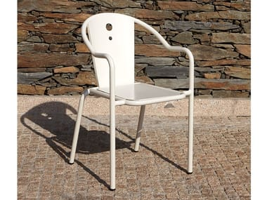 Stackable garden chair with armrests LIBELO