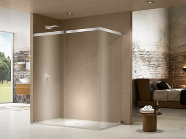 Box doccia angolare in cristallo LIBERO 5000 | Box doccia con piatto