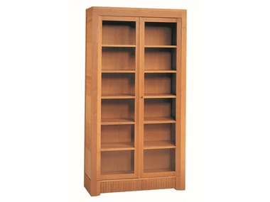 Cherry Wood Bookcase / Display Cabinet SCACCHI