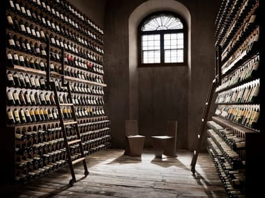 Iron wine storage LIBRERIA DEL VINO