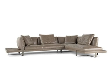 5 seater corner leather sofa LIBRETTO | Corner sofa