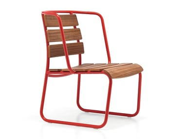 Sled base garden armchair with armrests LIDO OUT 04