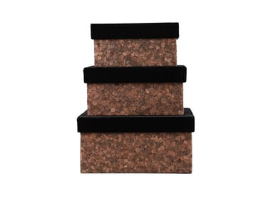 Velvet storage box LIEGA -SET OF 3