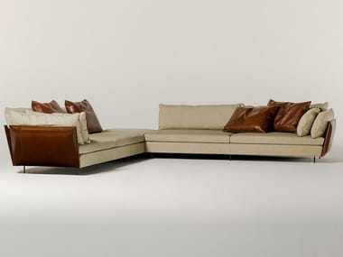 Modular fabric sofa with removable cover LIGHT FIELD | Modular sofa