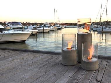 Outdoor freestanding bioethanol fireplace LIGHTHOUSE 300